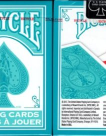 Fashion-Teal-White-Bicycle-Playing-Cards-Poker-Size-Deck-USPCC-Custom-Limited-0