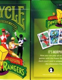 Power-Rangers-Bicycle-Playing-Cards-Poker-Size-Deck-USPCC-Custom-Limited-Edition-0